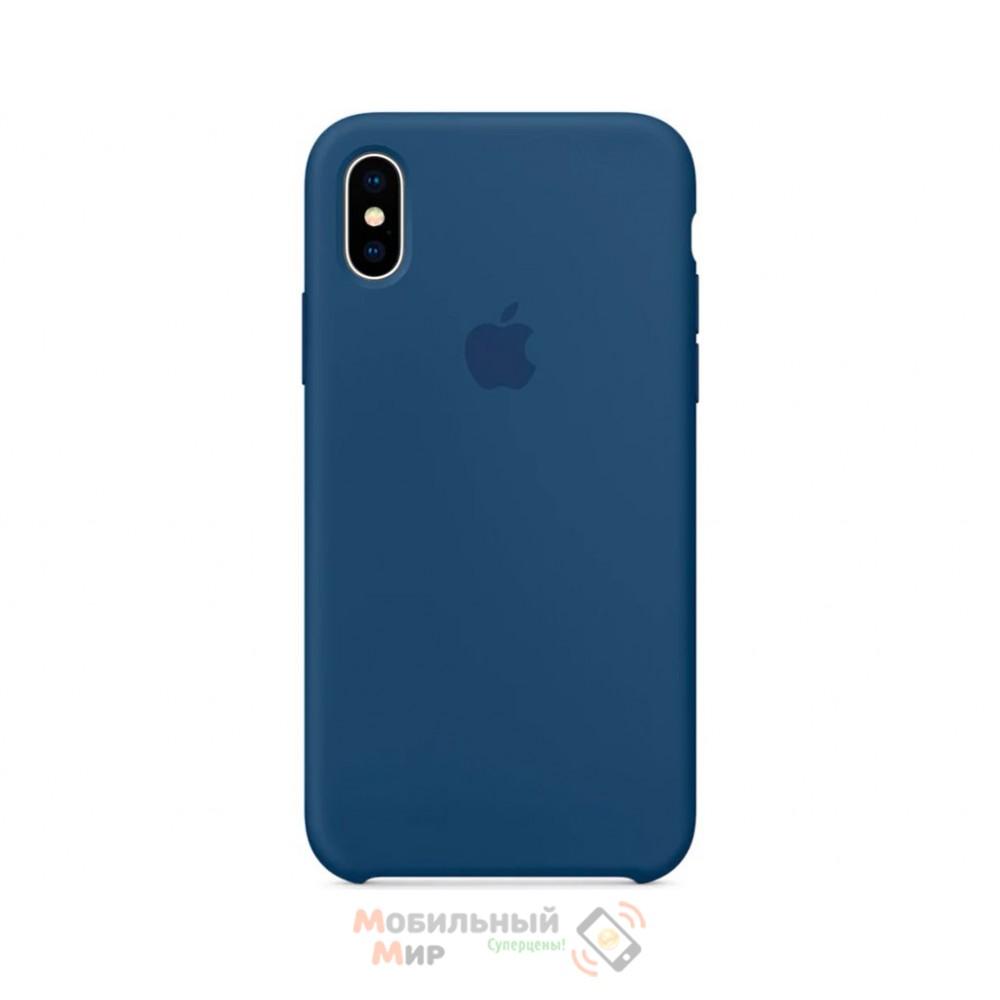 Силиконовая накладка для Apple iPhone X/XS Silicone Blue Cobalt
