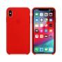 Силиконовая накладка для Apple iPhone X/XS Silicone Candy Red