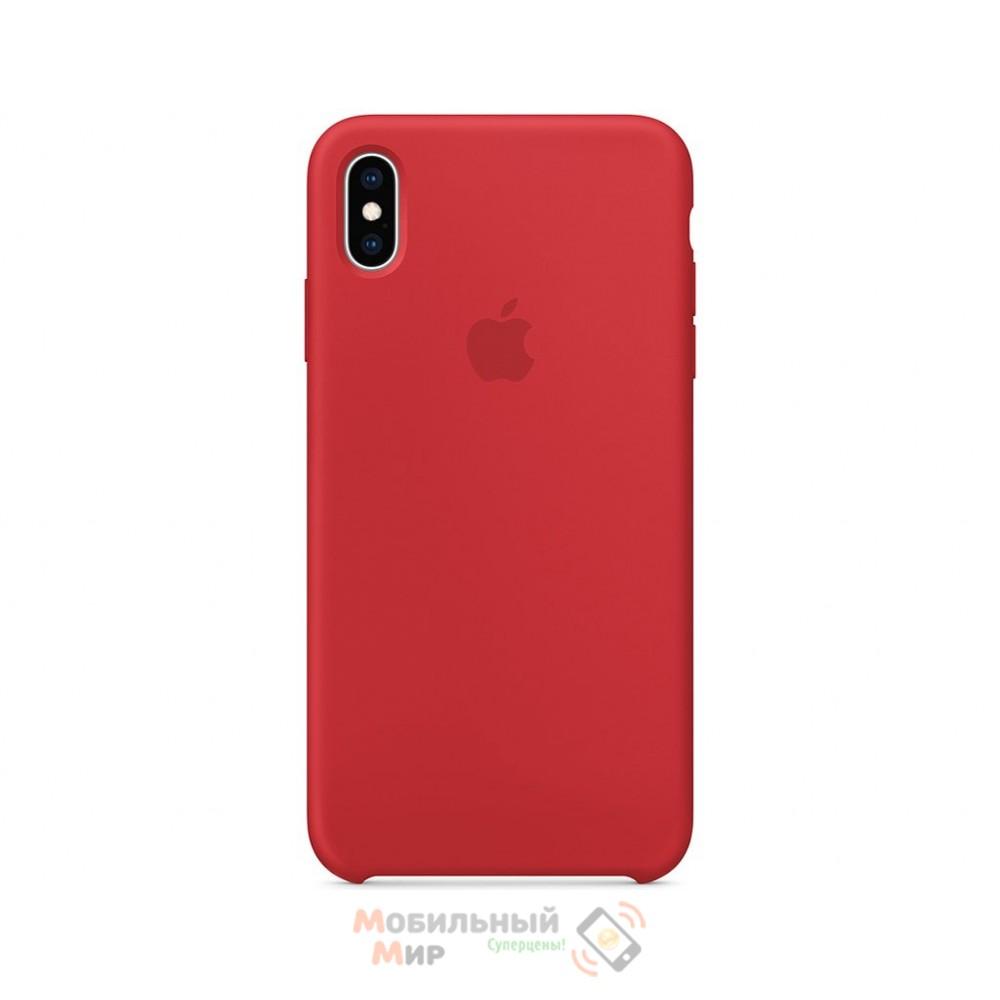 Силиконовая накладка для Apple iPhone X/XS Silicone Cherry