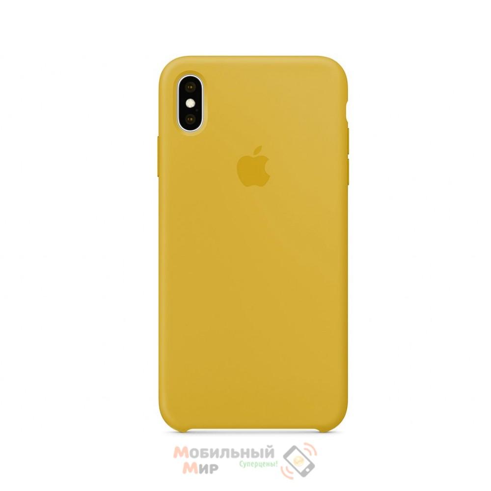 Силиконовая накладка для Apple iPhone X/XS Silicone Cream Gold