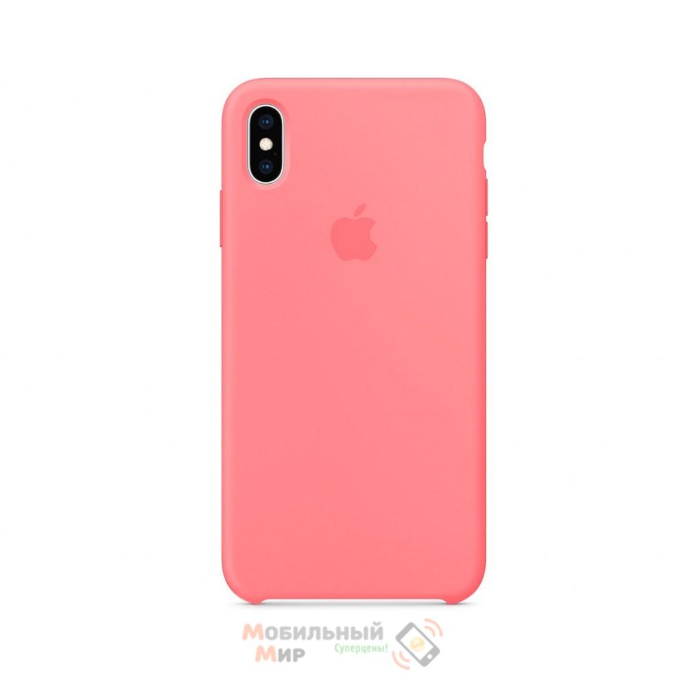 Силиконовая накладка для Apple iPhone X/XS Silicone Case Crimson