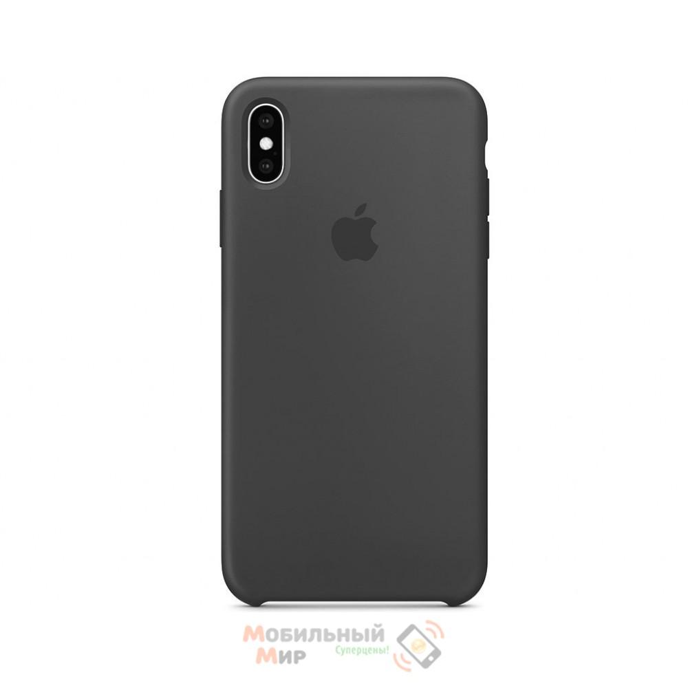 Силиконовая накладка для Apple iPhone X/XS Silicone Case Dark Grey