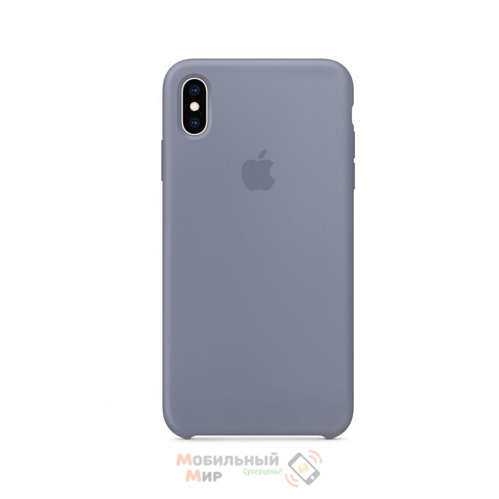 Силиконовая накладка для Apple iPhone X/XS Silicone Case Lavender