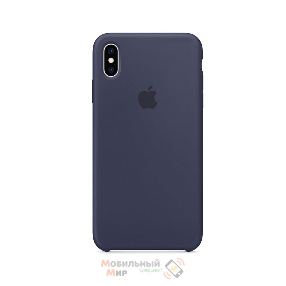Силиконовая накладка для Apple iPhone X/XS Silicone Case Midnight Blue