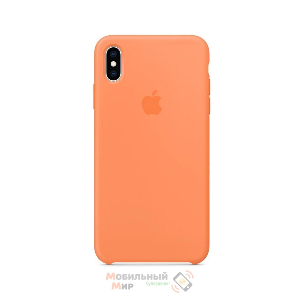 Силиконовая накладка для Apple iPhone X/XS Silicone Case Peach