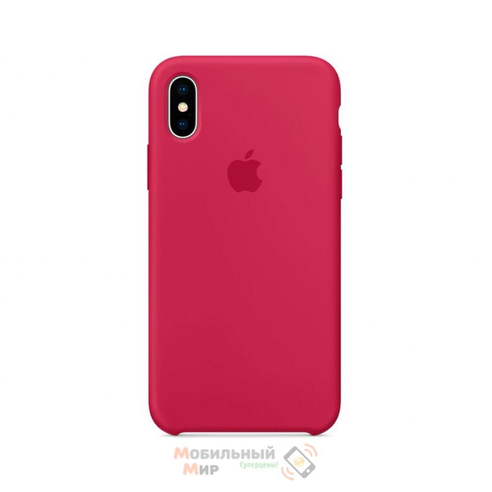 Силиконовая накладка для Apple iPhone X/XS Silicone Case Rose