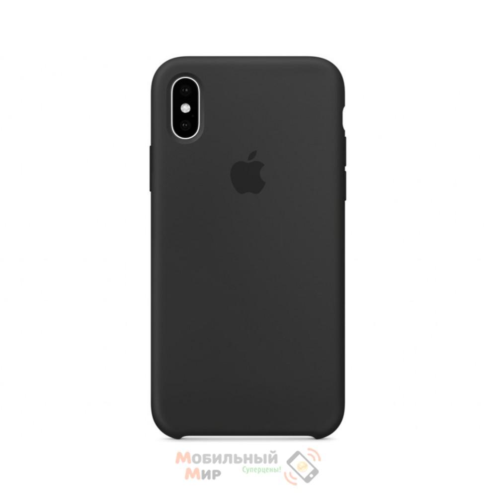 Силиконовая накладка для Apple iPhone X/XS Silicone Case Space Grey