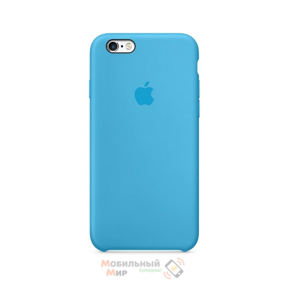 Силиконовая накладка для Apple iPhone 6/6S Silicone Case Blue