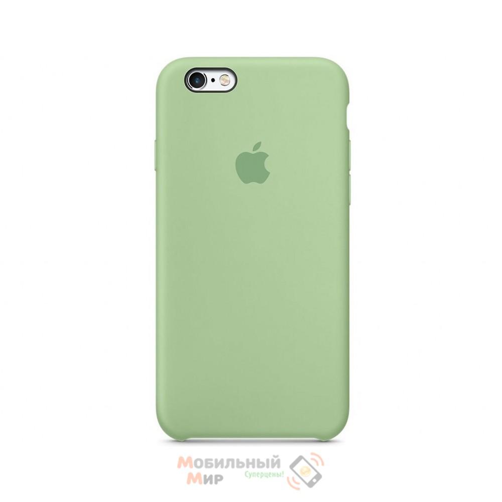 Силиконовая накладка для Apple iPhone 6/6S Silicone Case Green
