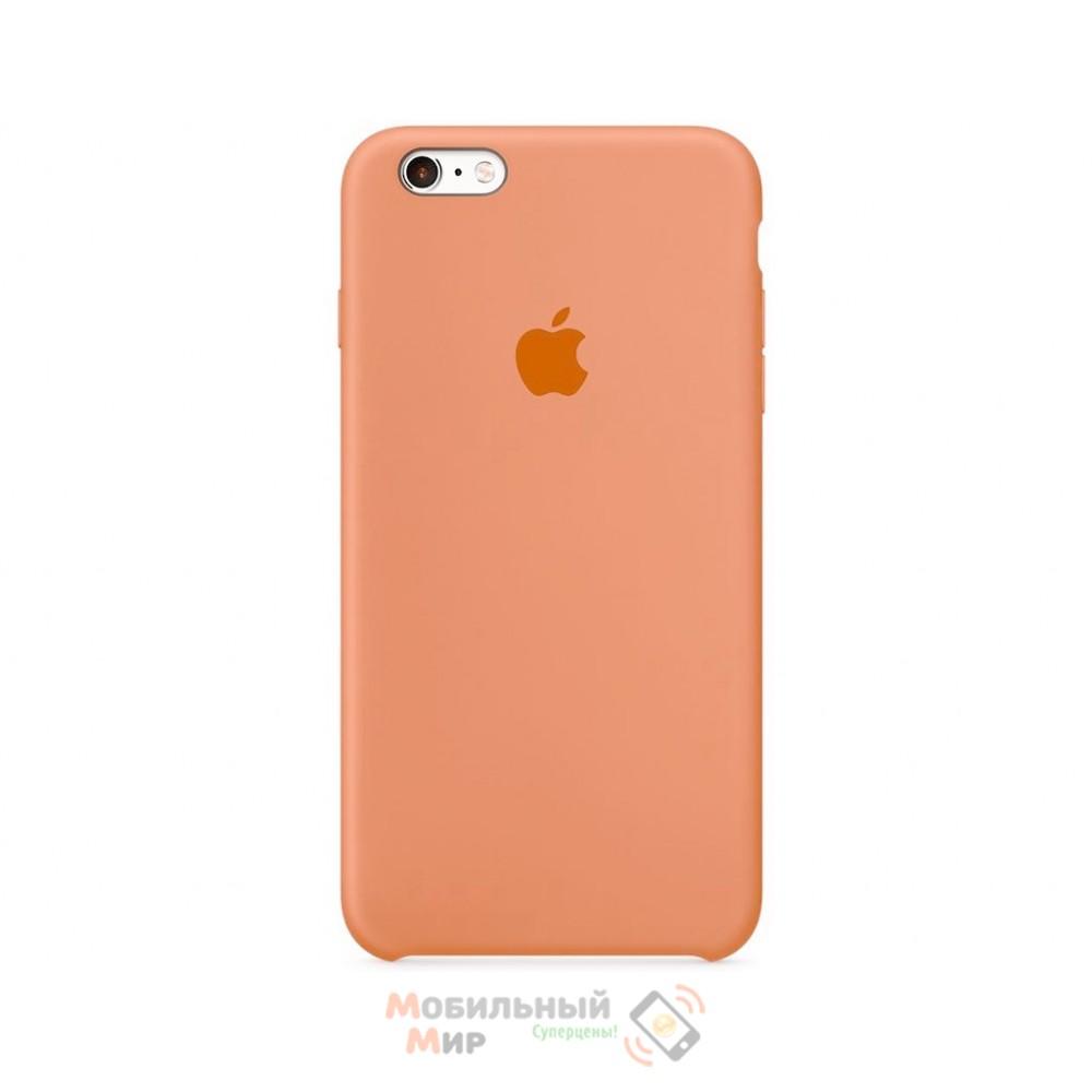 Силиконовая накладка для Apple iPhone 6/6S Silicone Case Peach