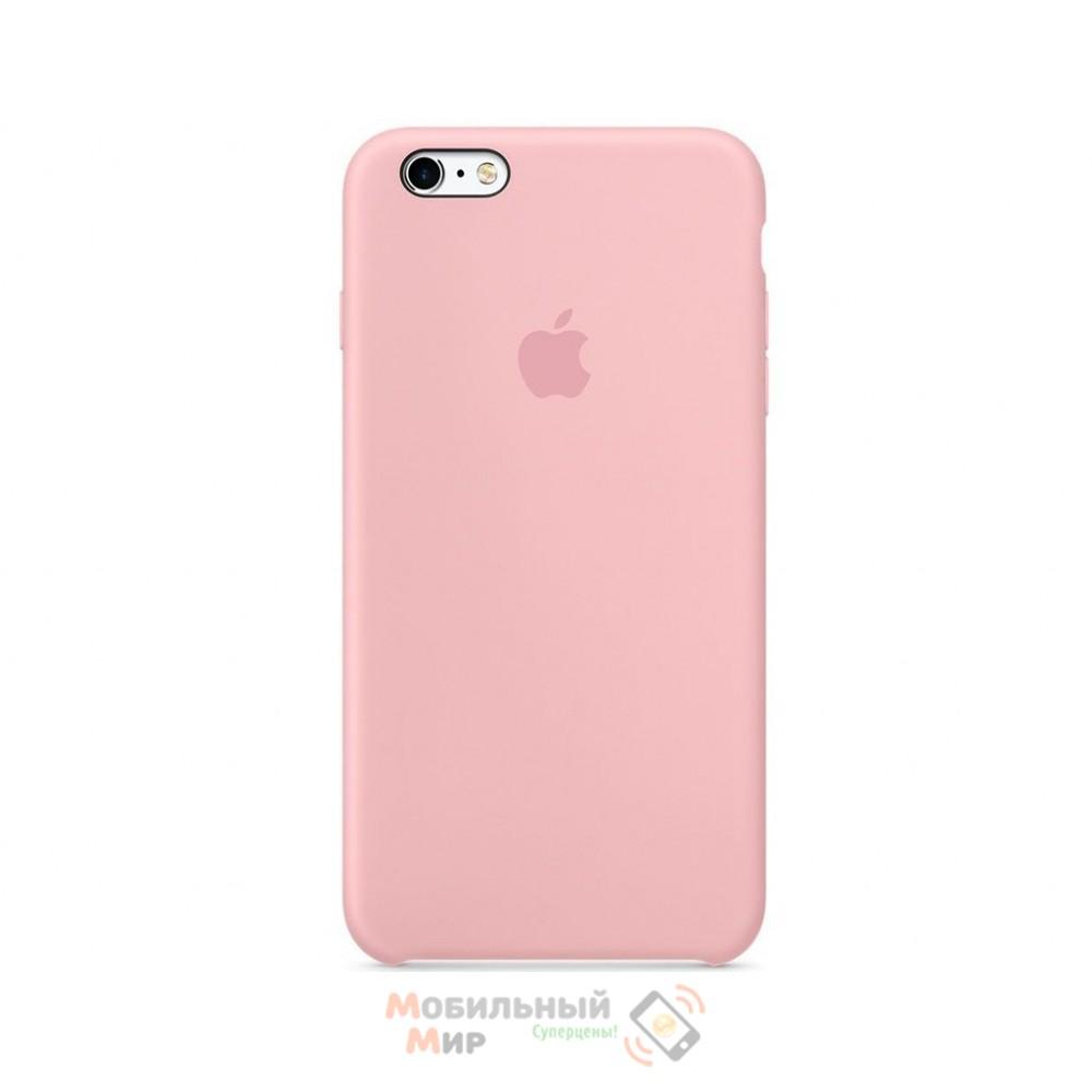 Силиконовая накладка для Apple iPhone 6/6S Silicone Case Pink