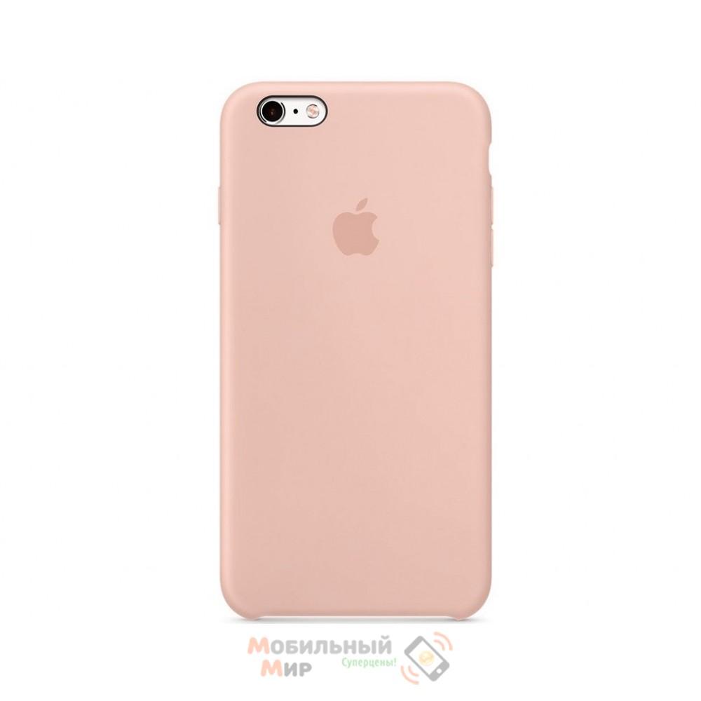 Силиконовая накладка для Apple iPhone 6/6S Silicone Case Pink Sand