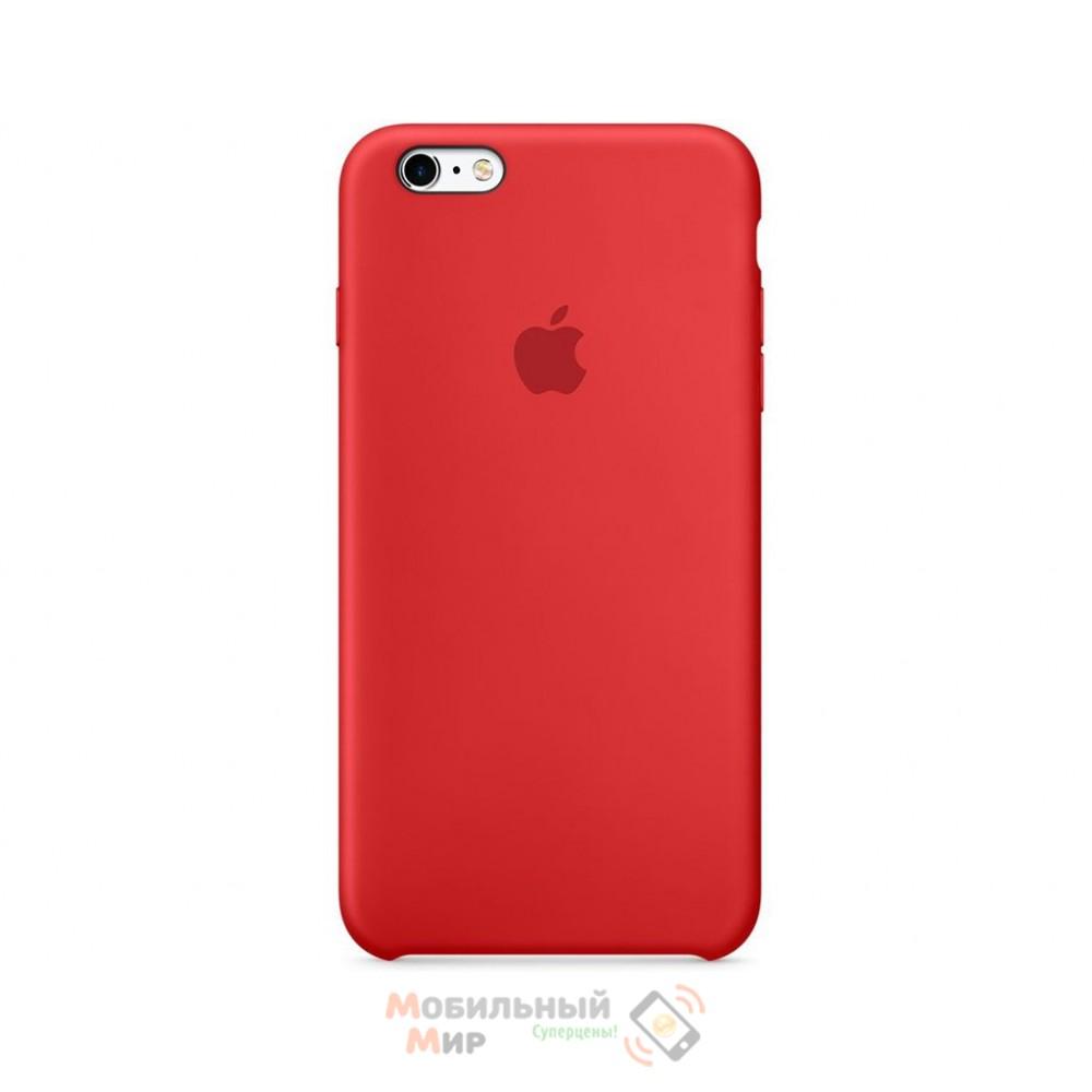 Силиконовая накладка для Apple iPhone 6/6S Silicone Case Product Red
