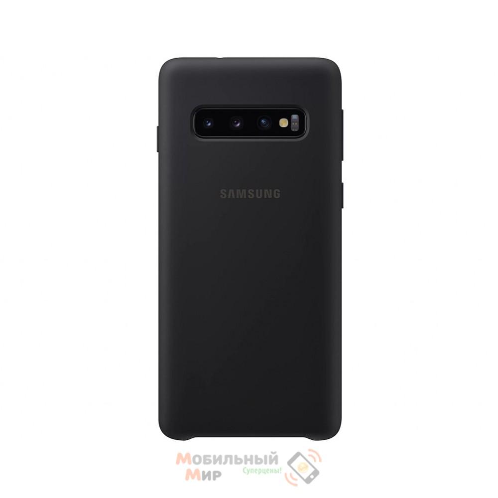 Силиконовая накладка Silicone Case для Samsung S10 2019 Black
