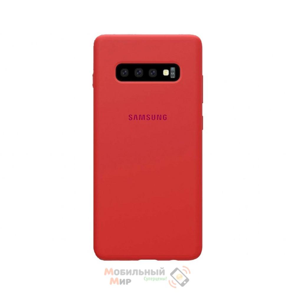 Силиконовая накладка Silicone Case для Samsung S10/G973 2019 Red