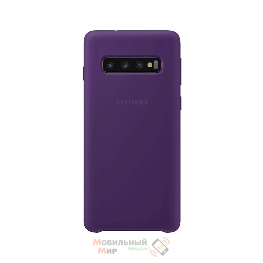 Силиконовая накладка Silicone Case для Samsung S10 2019 Violet