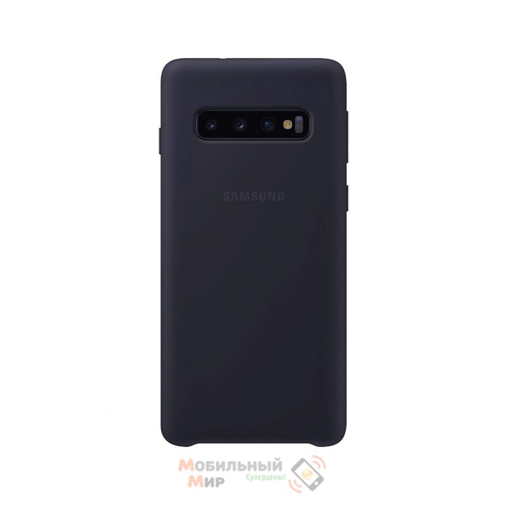 Силиконовая накладка Silicone Case для Samsung S10 Plus 2019 Navy blue