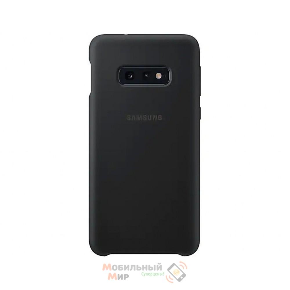 Силиконовая накладка Silicone Case для Samsung S10e 2019 Black