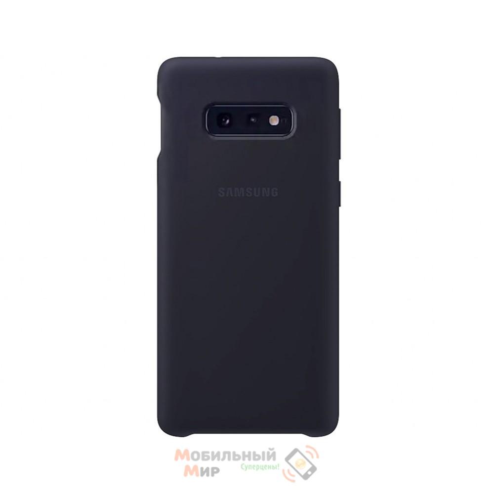 Силиконовая накладка Silicone Case для Samsung S10e 2019 Navy blue