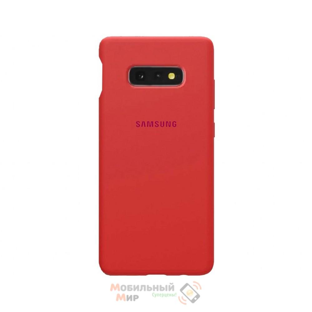 Силиконовая накладка Silicone Case для Samsung S10e 2019 Red