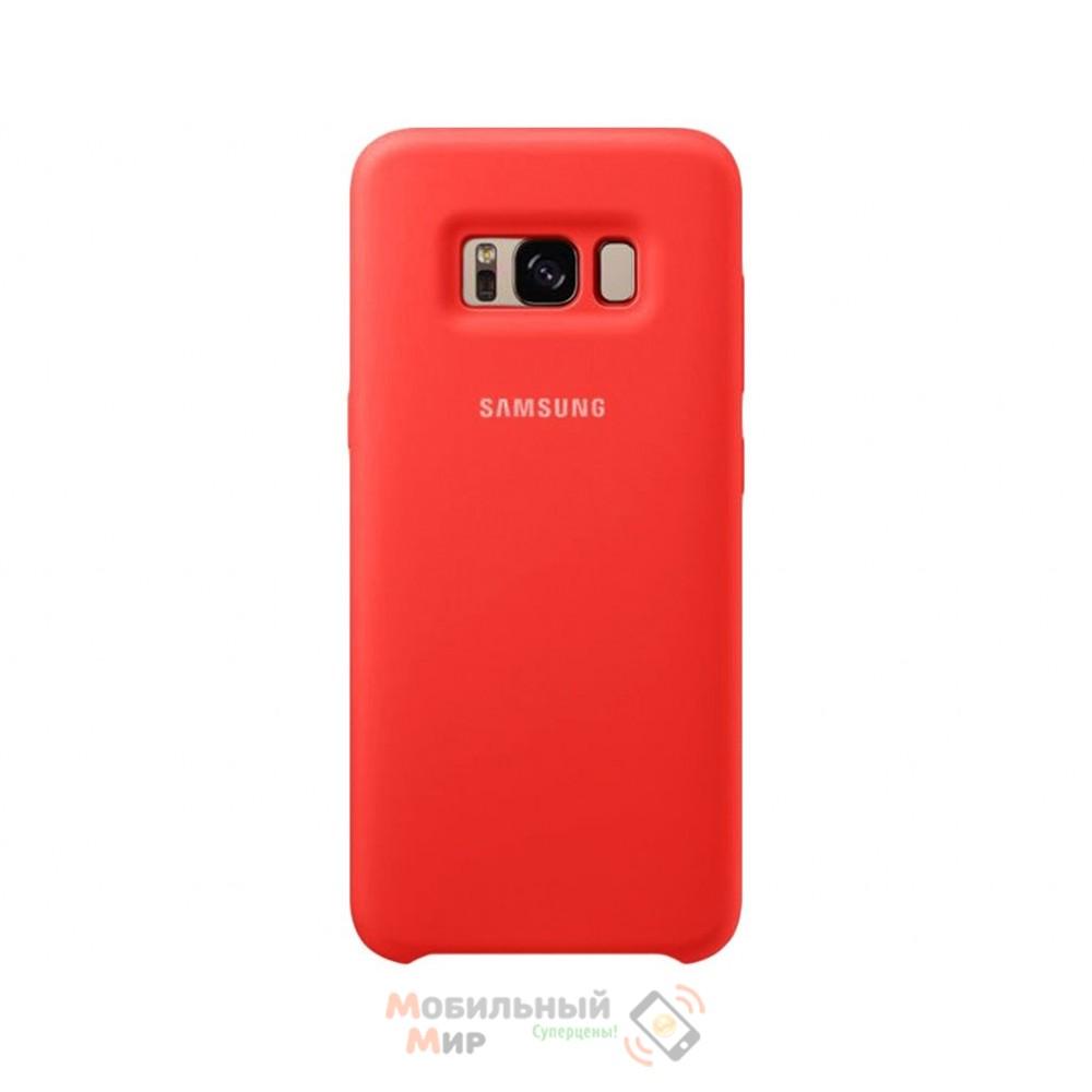 Силиконовая накладка Silicone Case для Samsung S8 2019 G950 Red