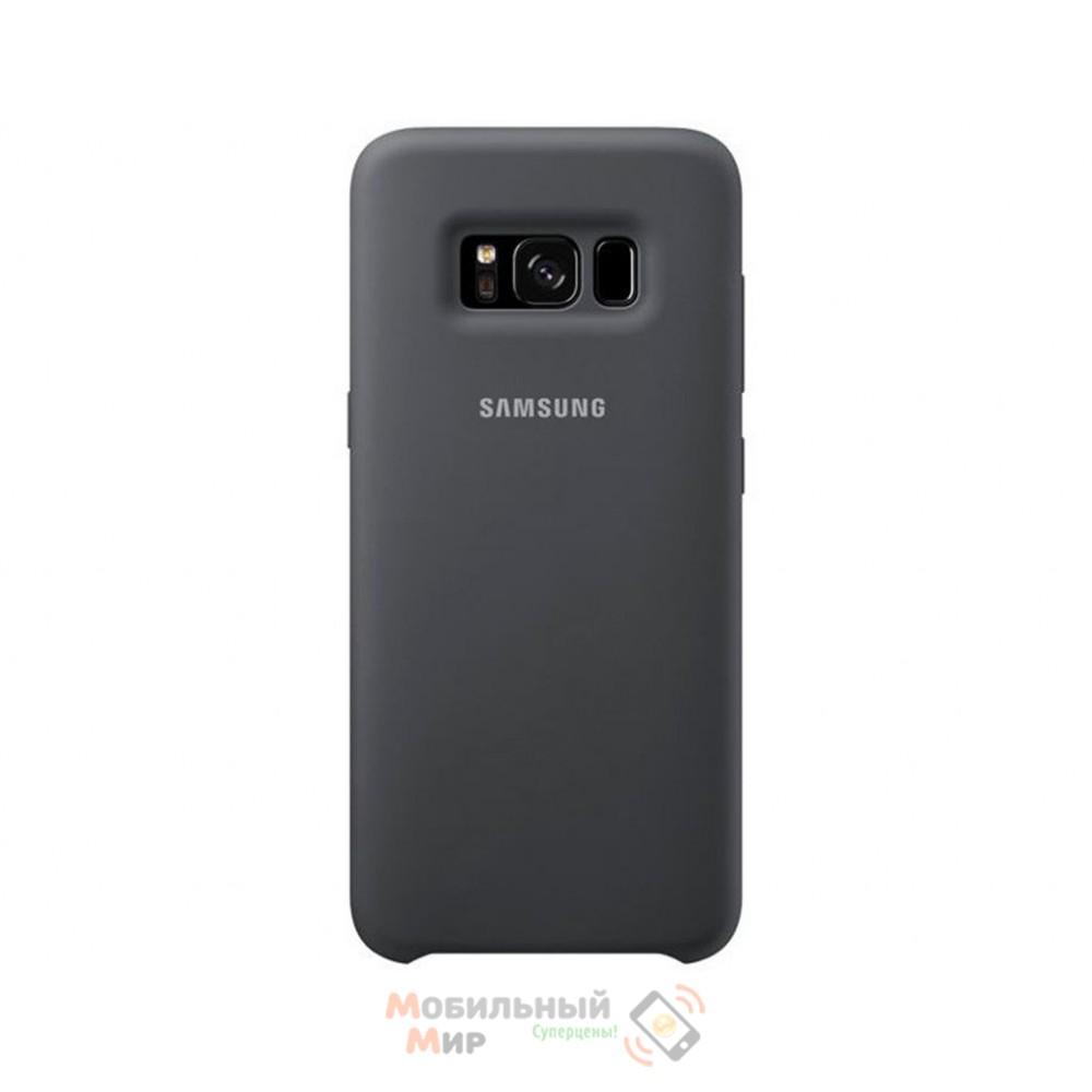 Силиконовая накладка Silicone Case для Samsung S8 Plus 2019 G955 Black
