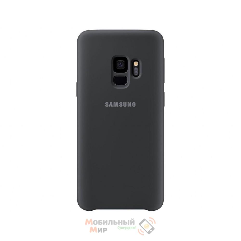 Силиконовая накладка Silicone Case для Samsung S9 2019 G960 Black