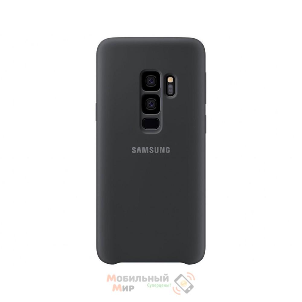 Силиконовая накладка Silicone Case для Samsung S9 Plus 2019 G965 Black