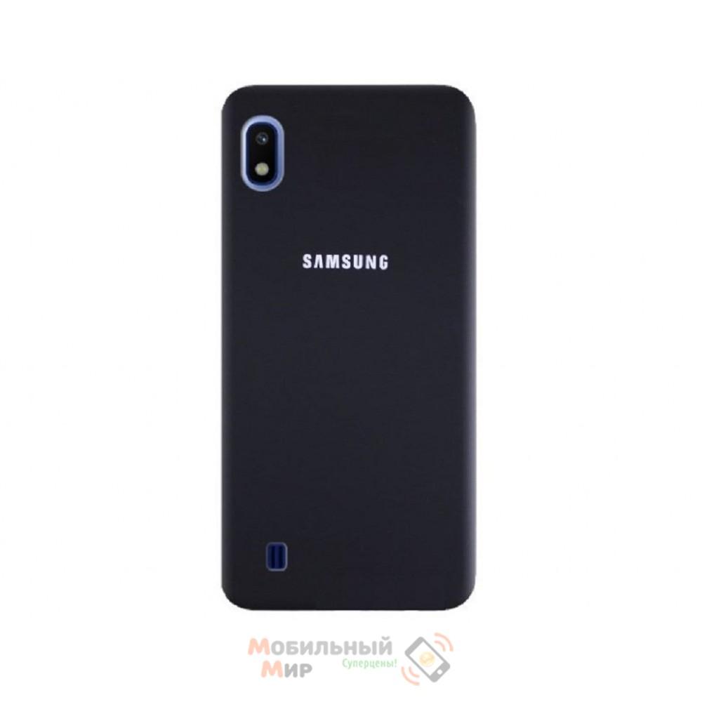 Силиконовая накладка Silicone Case для Samsung A10 2019 A105 Black