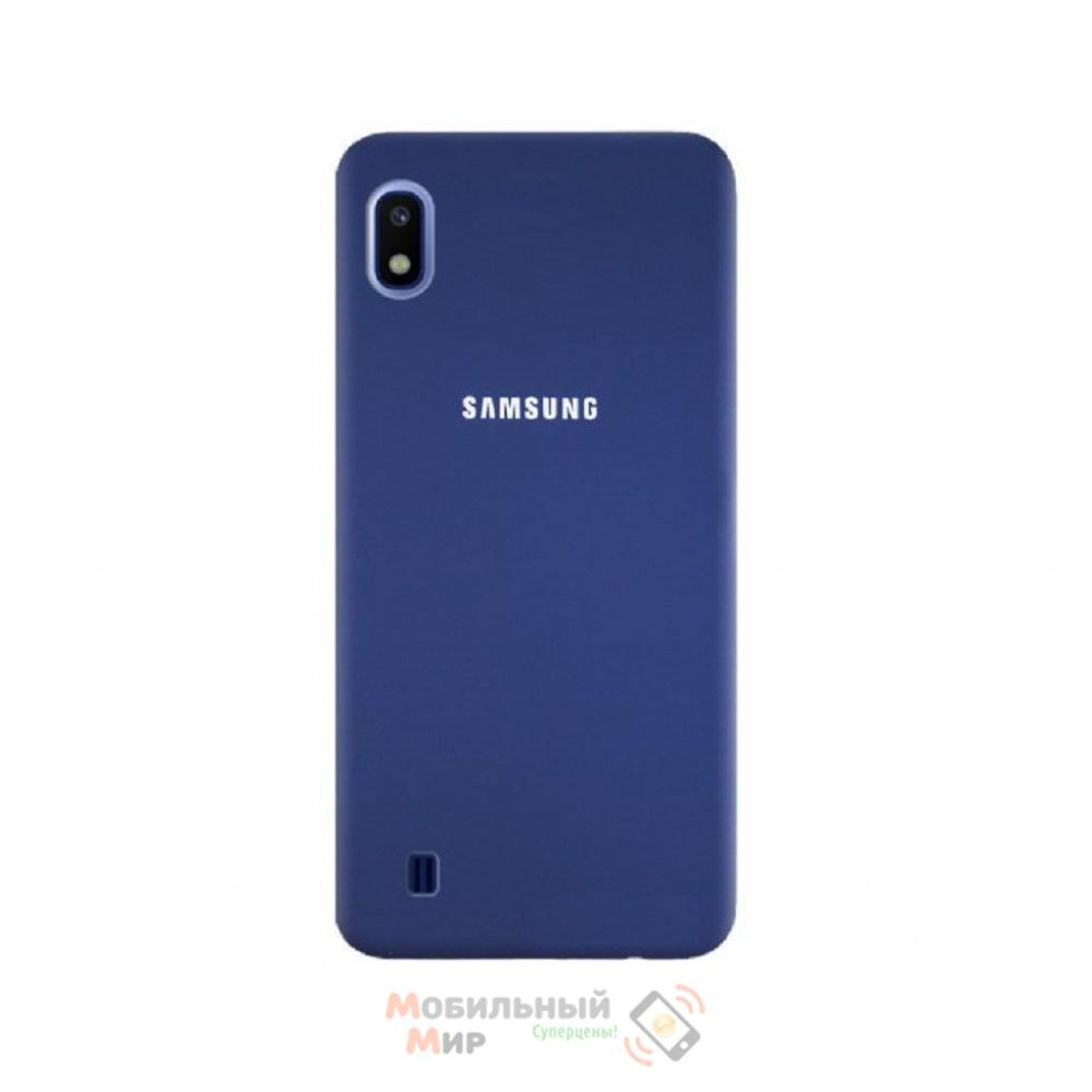 Силиконовая накладка Silicone Case для Samsung A10 2019 A105 Navy blue