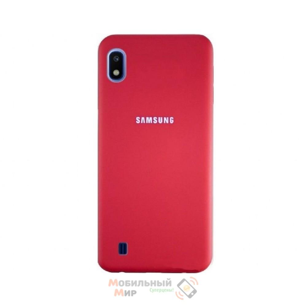 Силиконовая накладка Silicone Case для Samsung A10 2019 A105 Red