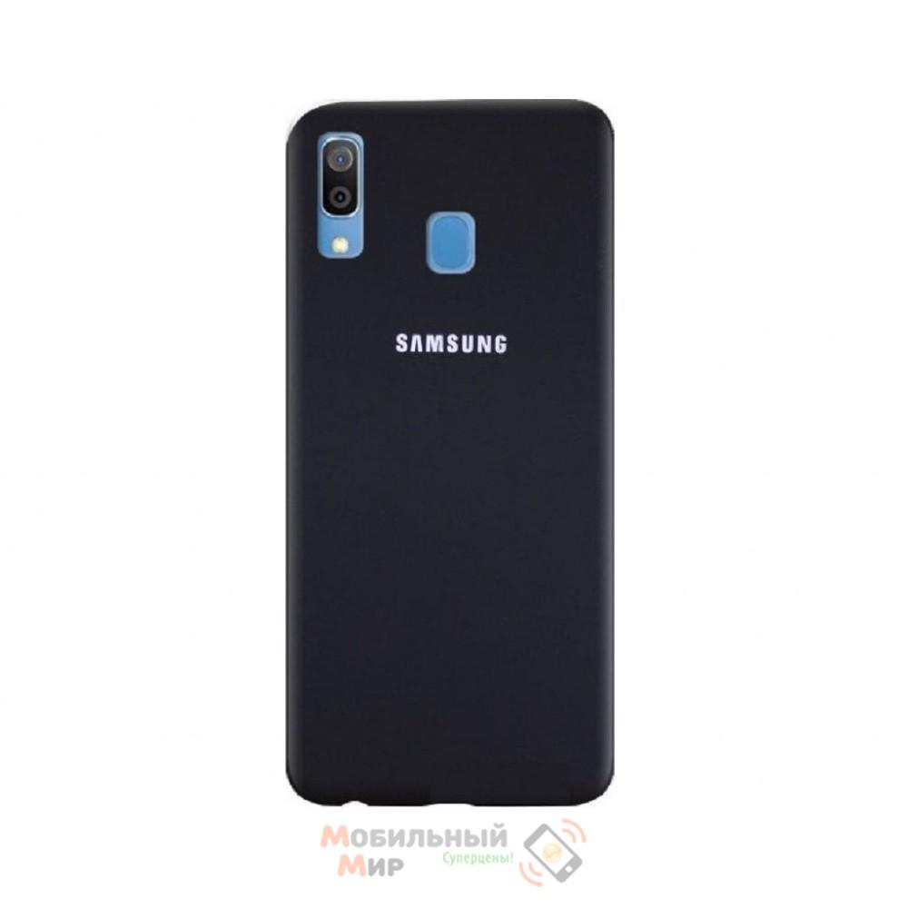 Силиконовая накладка Silicone Case для Samsung A30 2019 A305 Black