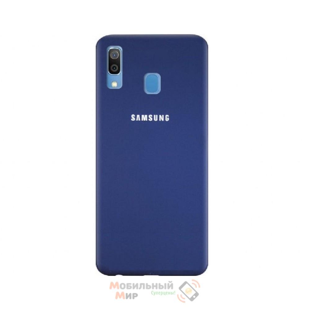 Силиконовая накладка Silicone Case для Samsung A30 2019 A305 Navy blue