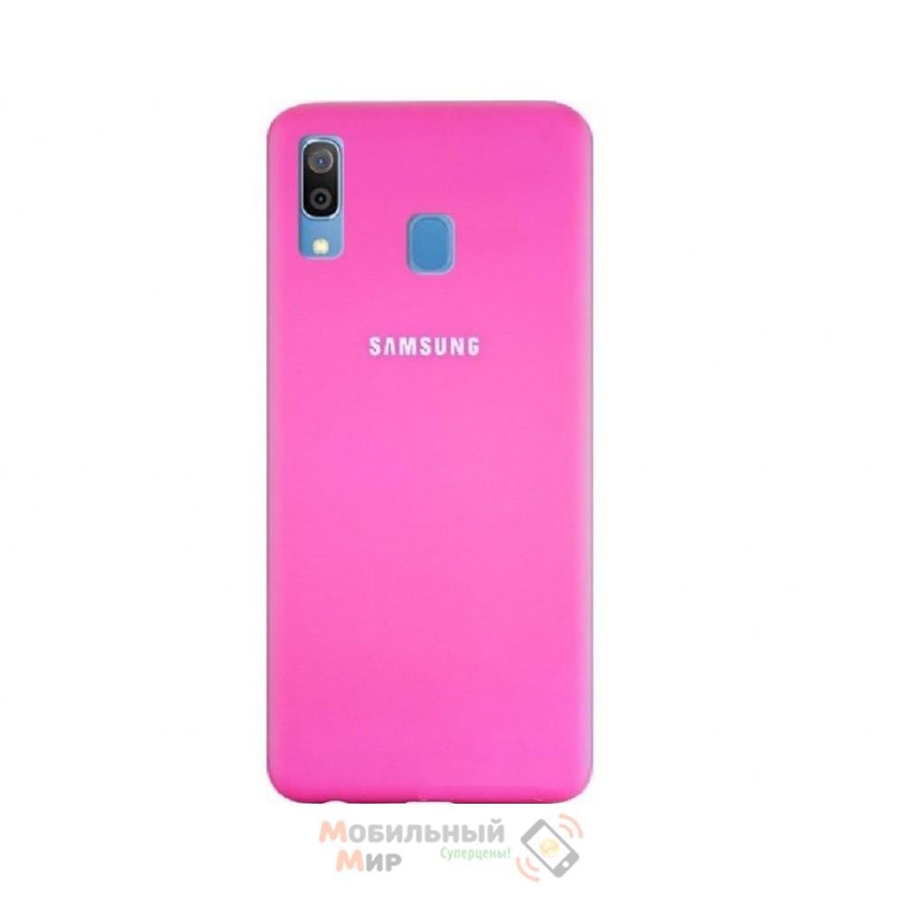 Силиконовая накладка Silicone Case для Samsung A30 2019 A305 Pink