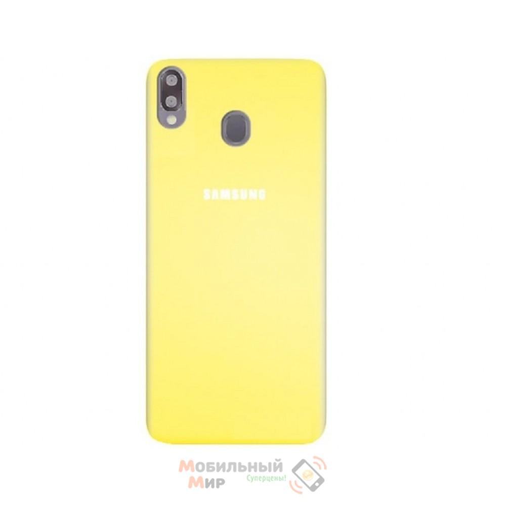 Силиконовая накладка Silicone Case для Samsung A30 2019 A305 Yellow