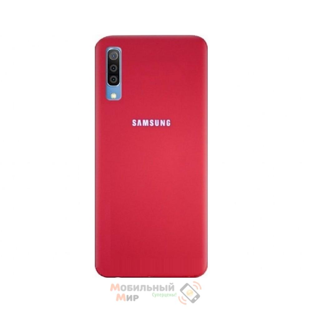 Силиконовая накладка Silicone Case для Samsung A50 2019 A505 Red