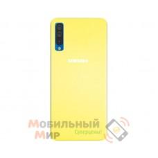 Силиконовая накладка Silicone Case для Samsung A50 2019 A505 Yellow