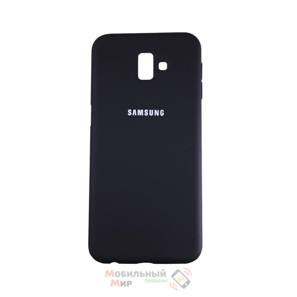 Силиконовая накладка Silicone Case для Samsung J6 2018 J600 Black