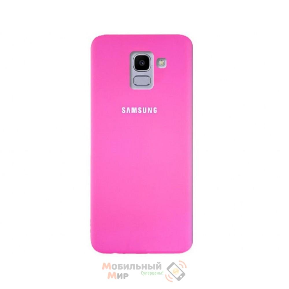 Силиконовая накладка Silicone Case для Samsung J6 2018 J600 Crimson