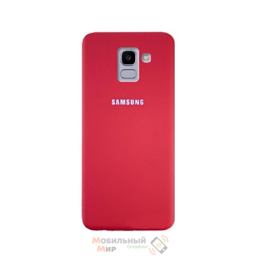Силиконовая накладка Silicone Case для Samsung J6 2018 J600 Red