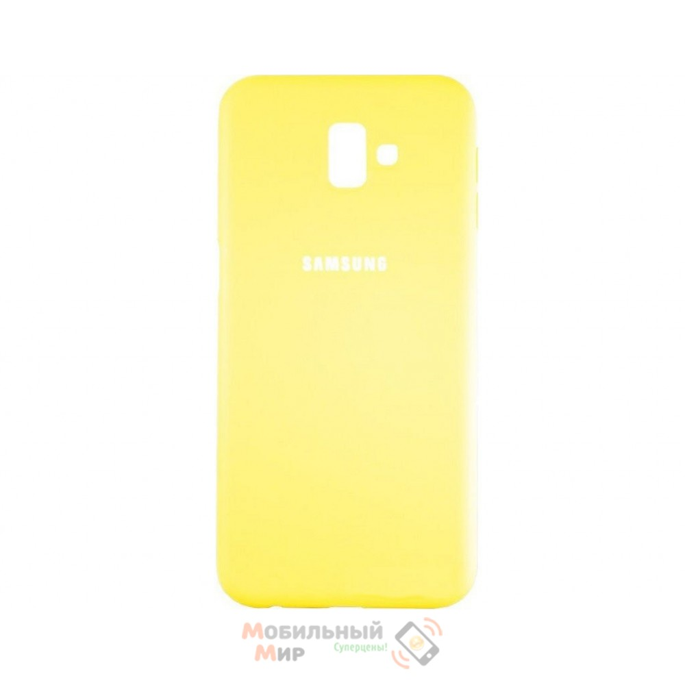 Силиконовая накладка Silicone Case для Samsung J6 Plus 2018 J600 Yellow