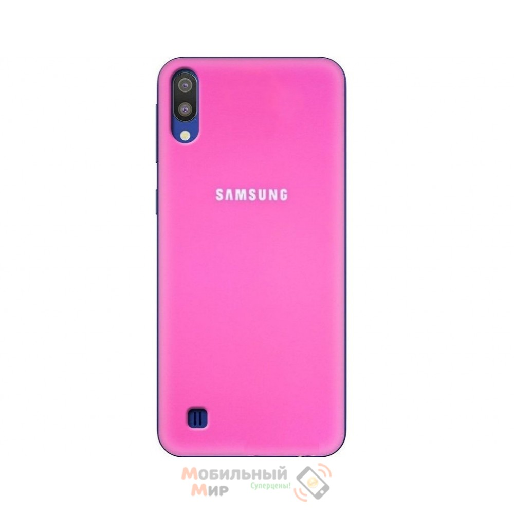 Силиконовая накладка Silicone Case для Samsung M10 2019 M105 Crimson