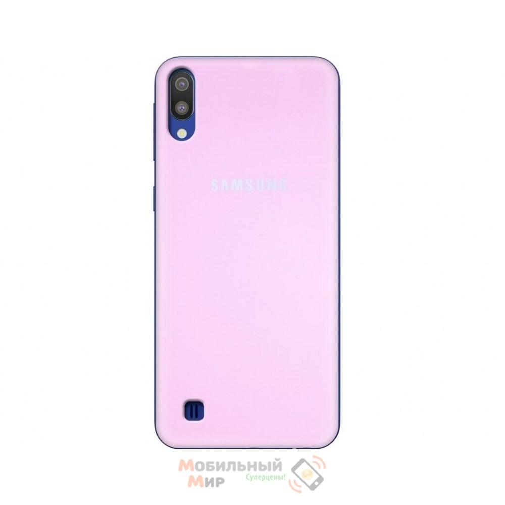 Силиконовая накладка Silicone Case для Samsung M10 2019 M105 Pink