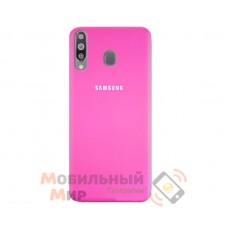 Силиконовая накладка Silicone Case для Samsung M30 2019 M305 Crimson