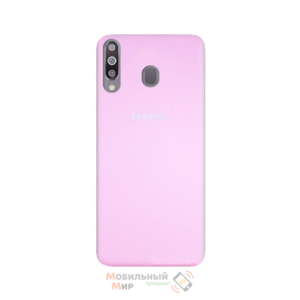 Силиконовая накладка Silicone Case для Samsung M30 2019 M305 Pink