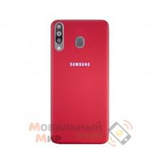 Силиконовая накладка Silicone Case для Samsung M30 2019 M305 Red