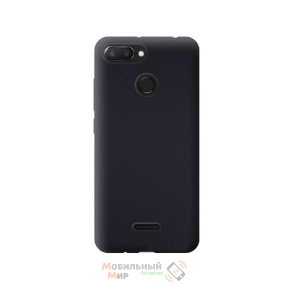 Силиконовая накладка Silicone Case для Xiaomi Redmi 6 Black