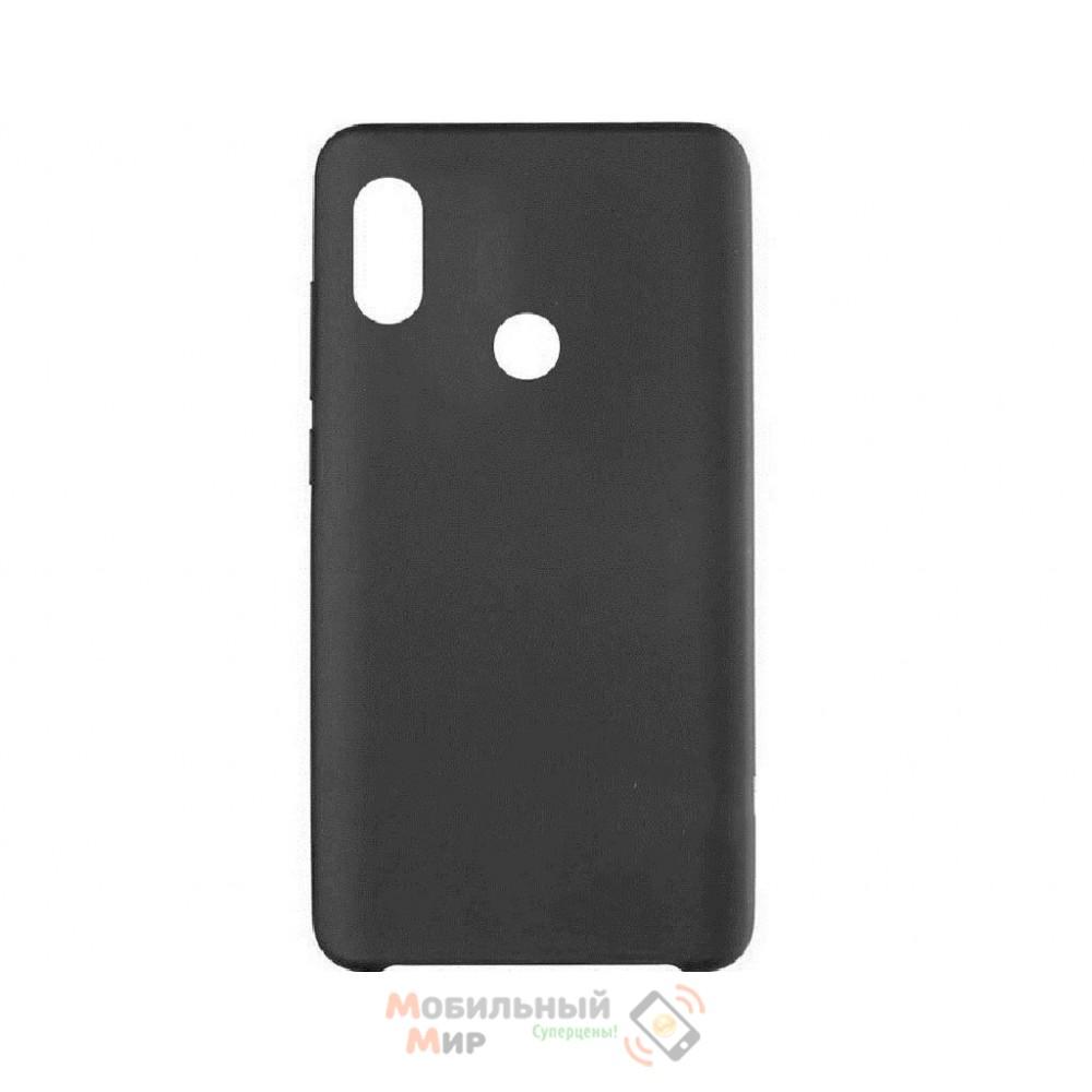 Силиконовая накладка Silicone Case для Xiaomi Redmi 6 Pro/Mi A2 Black