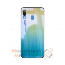 Силиконовая накладка Gradient Glass для Samsung A30 2019 A305 Green