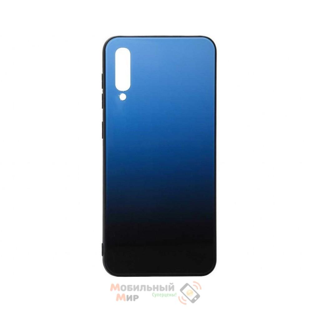 Силиконовая накладка Gradient Glass для Samsung A50 2019 A505 Blue